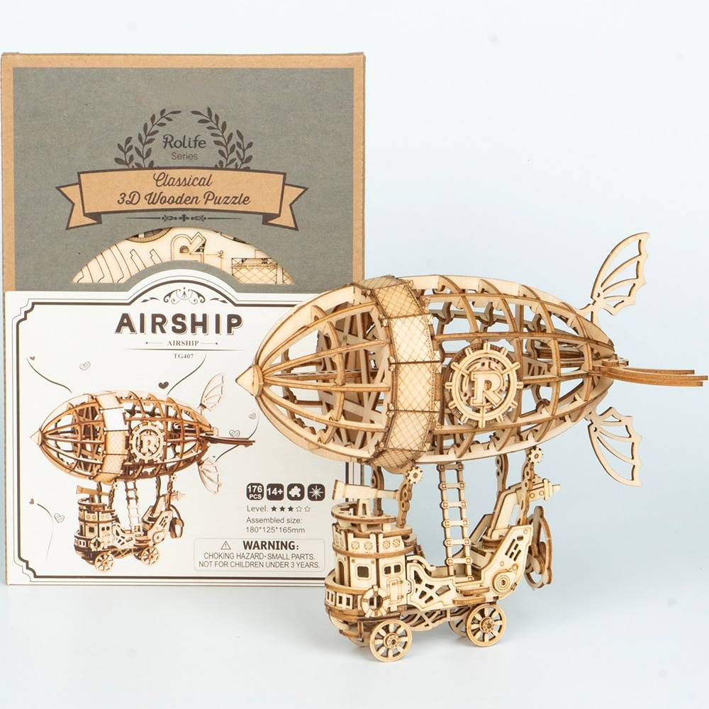 Airship 3D Wooden Puzzle Kit Toys for Kids and Teens GYOBY® TOYS