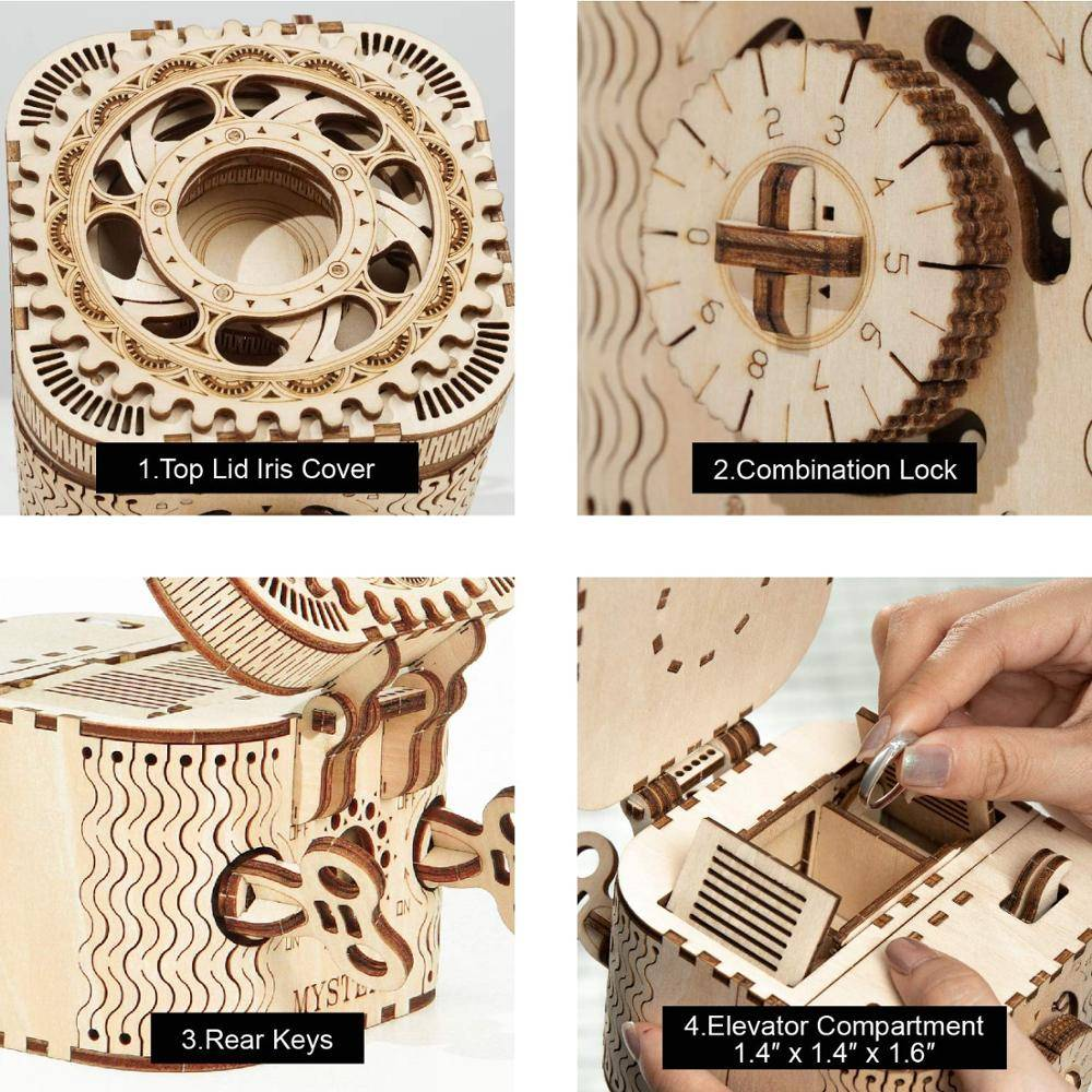 Password Treasure Box 3D Wooden Puzzle Kit Toys GYOBY® TOYS