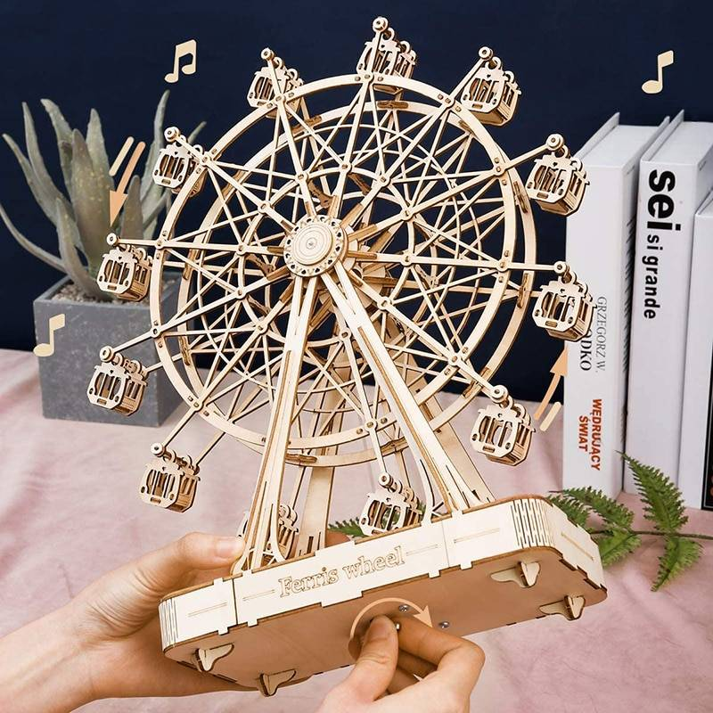 Rotatable Ferris Wheel 3D Wooden Puzzle Kits Toys GYOBY® TOYS