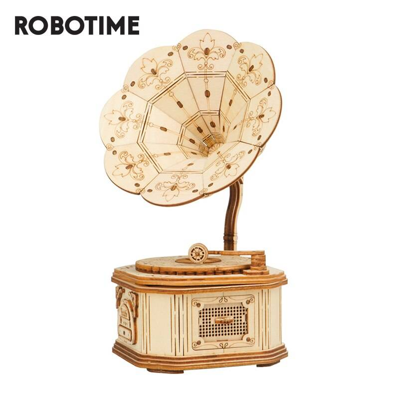 Gramophone 3D Wooden Puzzle Kits Toys GYOBY® TOYS
