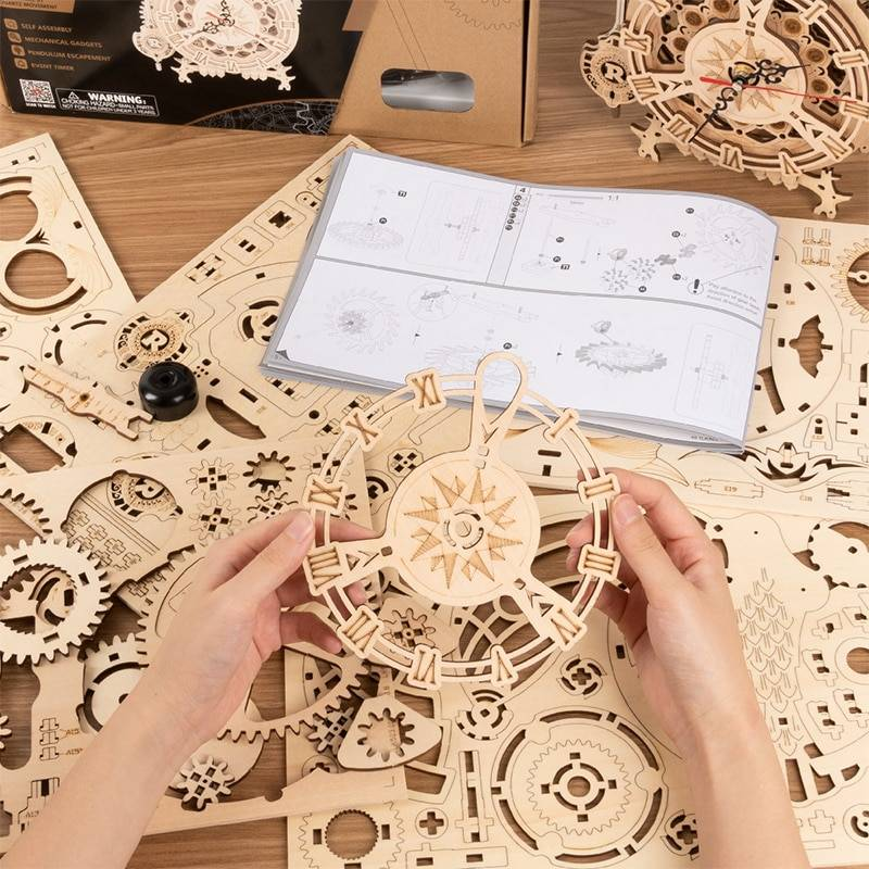 Owl Clock 3D Wooden Puzzle Kit Toys GYOBY® TOYS