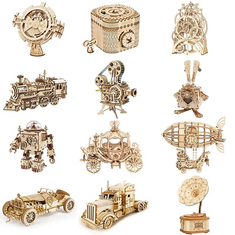 ROKR DIY 3D Wooden Puzzle Kits Toy GYOBY® TOYS