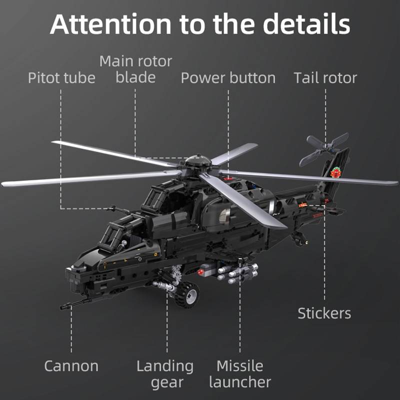 Military RC Helicopter DIY Model Building Blocks Toy GYOBY® TOYS