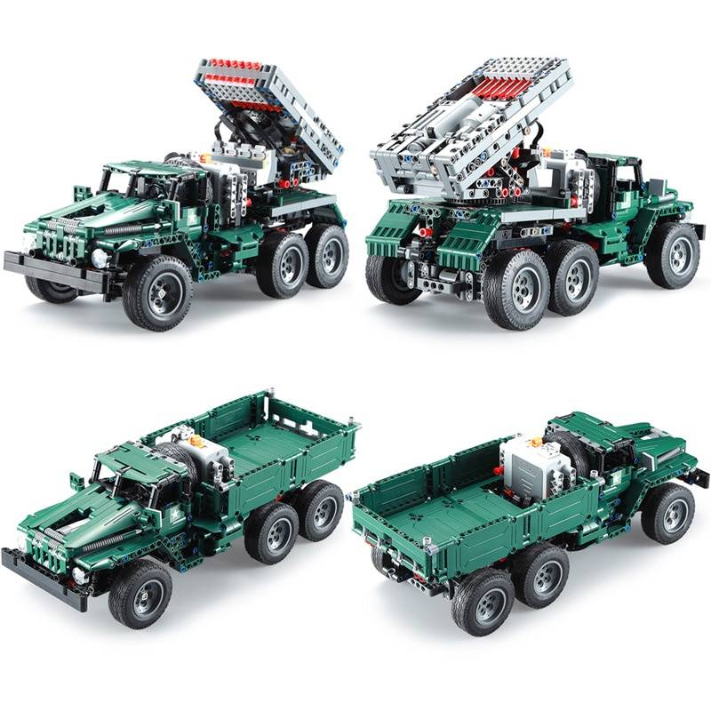 Military RC Rocket Turret Truck Model Building Blocks Toy GYOBY® TOYS