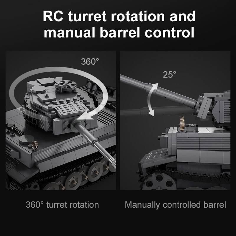 Military RC Tiger Tank DIY Model Building Blocks Toy GYOBY® TOYS