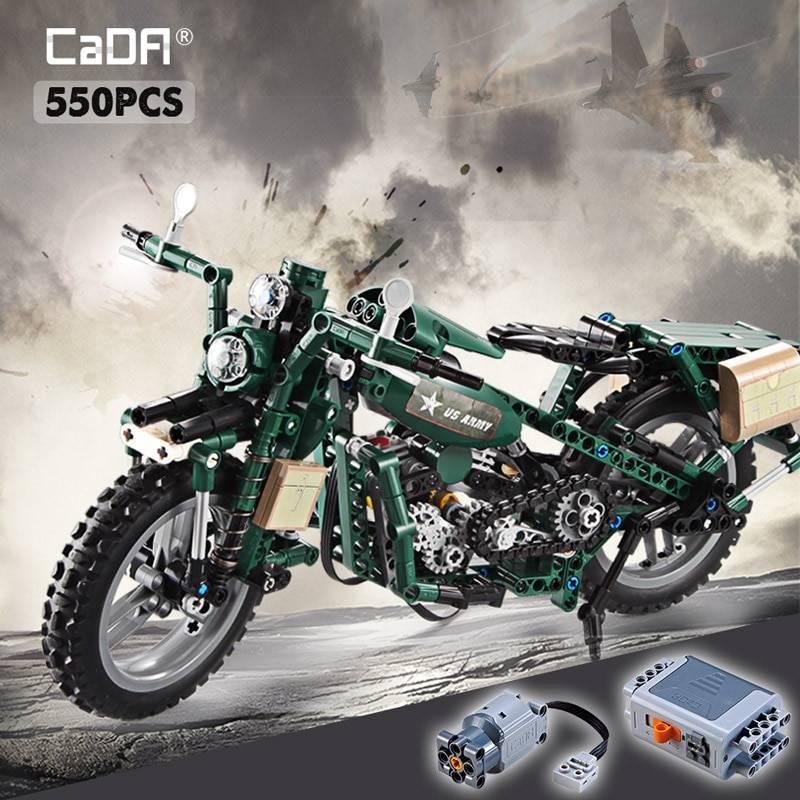 World War 2 Motorcycle DIY Model Building Blocks Toy GYOBY® TOYS
