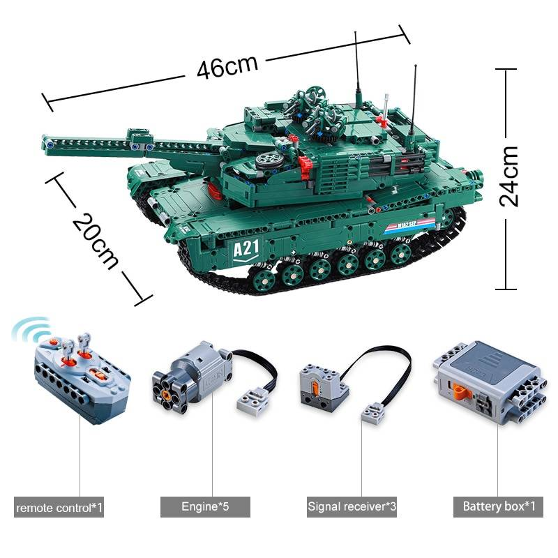 Military A21 RC Tank Model Building Blocks Toy GYOBY® TOYS