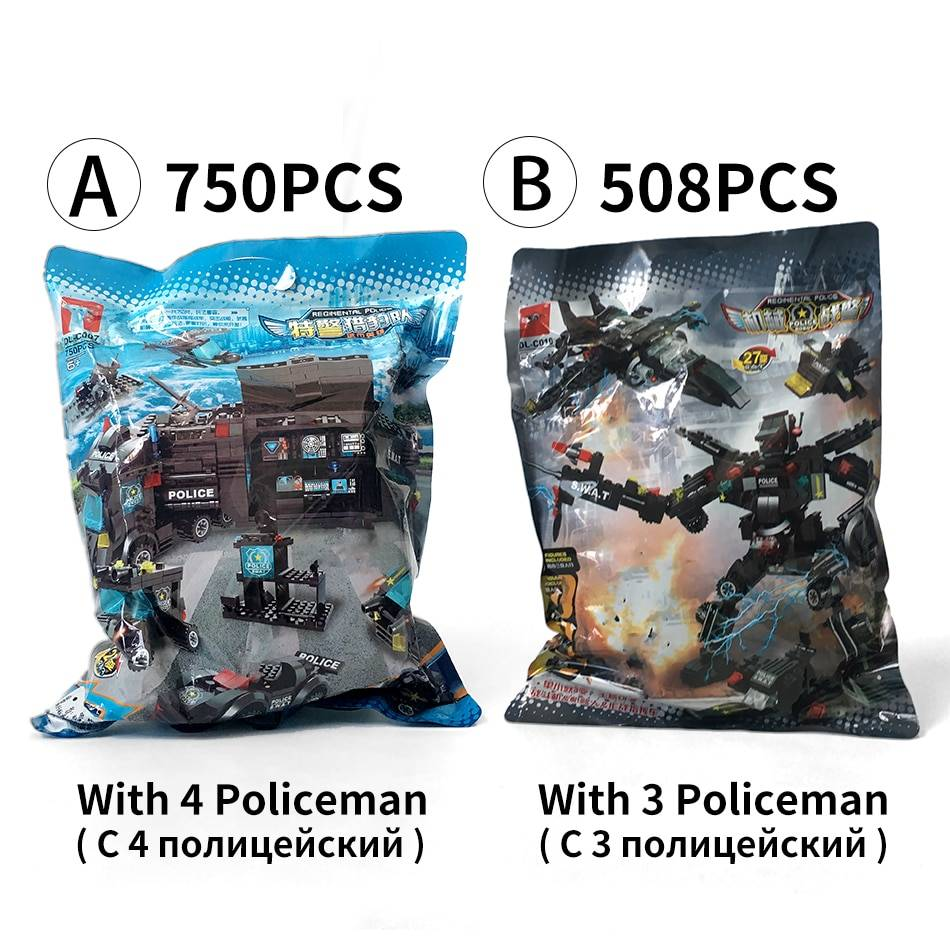 SWAT Police Station Model Building Blocks Toy GYOBY® TOYS
