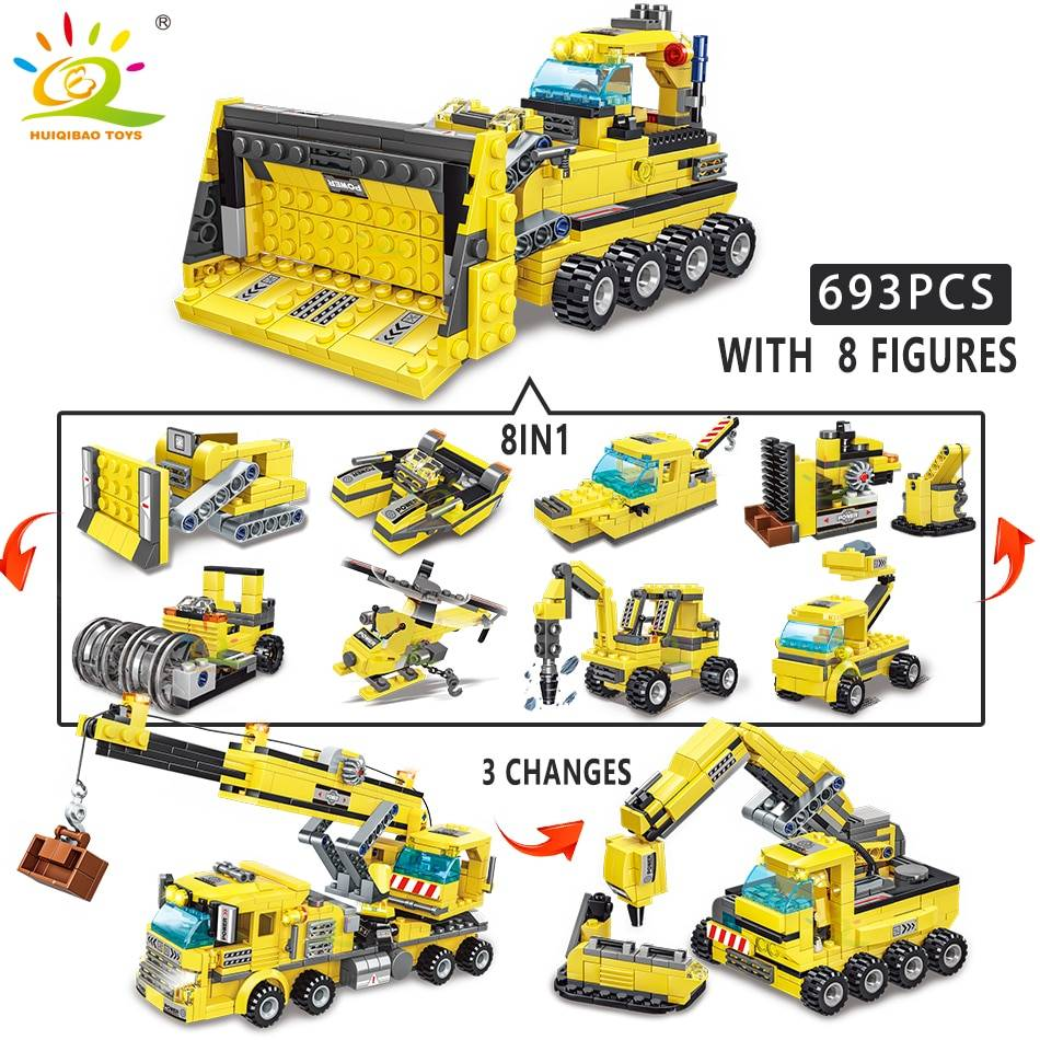 8in1 Engineering Truck Building Blocks Toy GYOBY® TOYS
