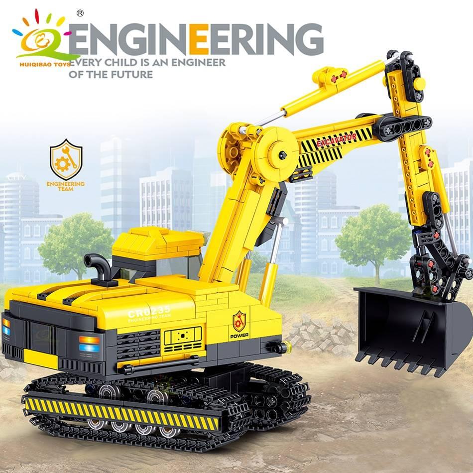Engineering Excavator Model Building Blocks Toy GYOBY® TOYS