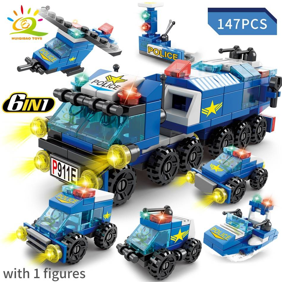 6IN1 Fire Police Army Engineering Building Blocks Toy GYOBY® TOYS
