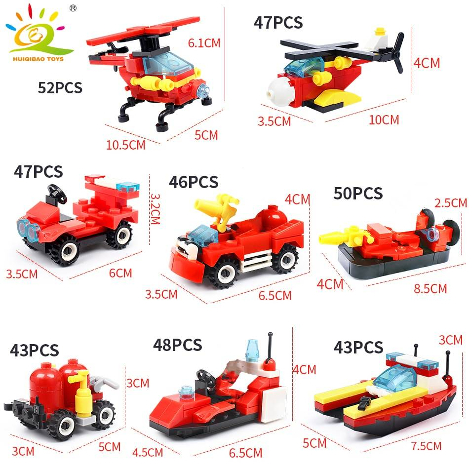 Fire Fighting Trucks Model 2 Building Blocks Toy GYOBY® TOYS
