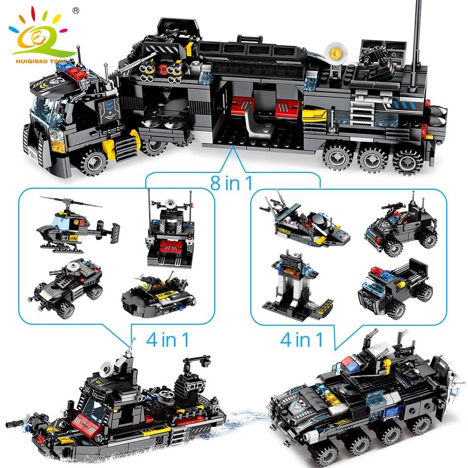 8in1 SWAT Police Command Truck Building Blocks Toy GYOBY® TOYS