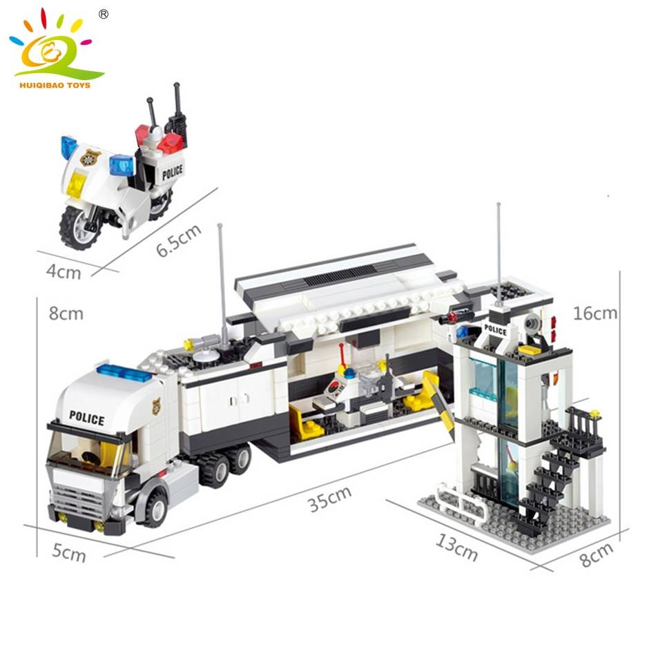 City Police Station 2 Model Building Blocks Toy GYOBY® TOYS