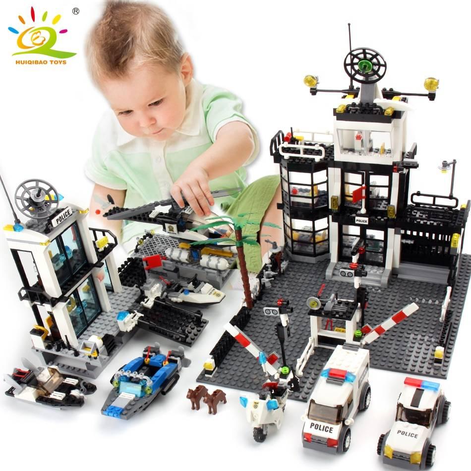 City Police Station Model Building Blocks Toy GYOBY® TOYS