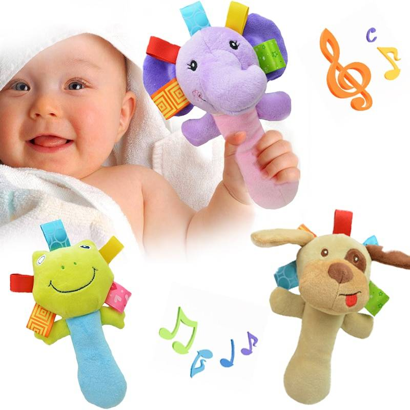 Cartoon Animal Baby Rattle and Plush Toy GYOBY® TOYS