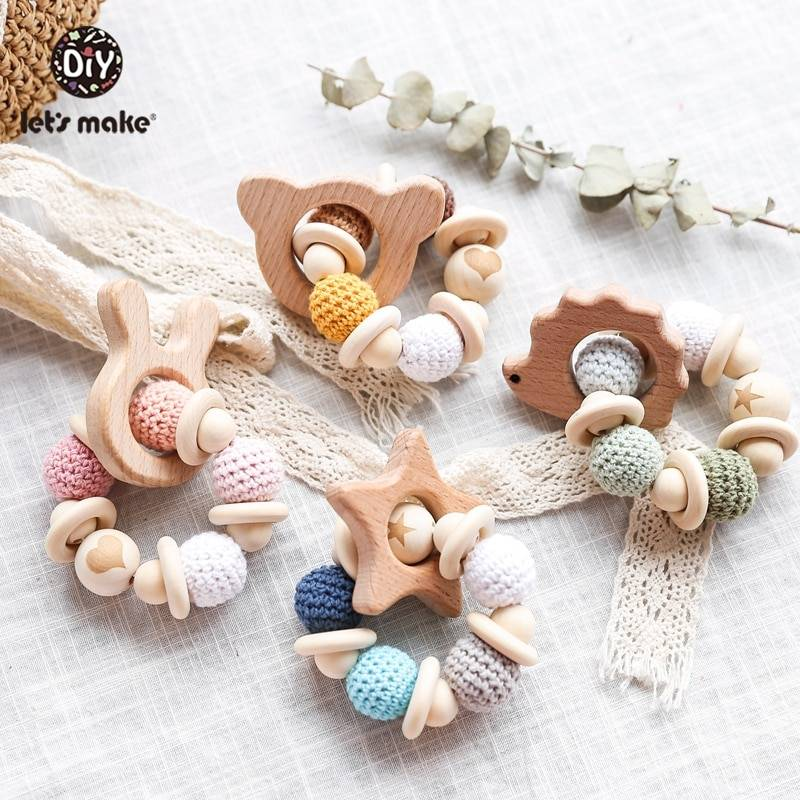 Wooden Beads Baby Rattle Toy GYOBY® TOYS