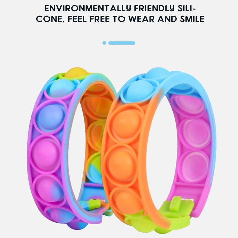 Push Bubble Silicone Bracelet Fidget Toy Pack GYOBY® TOYS