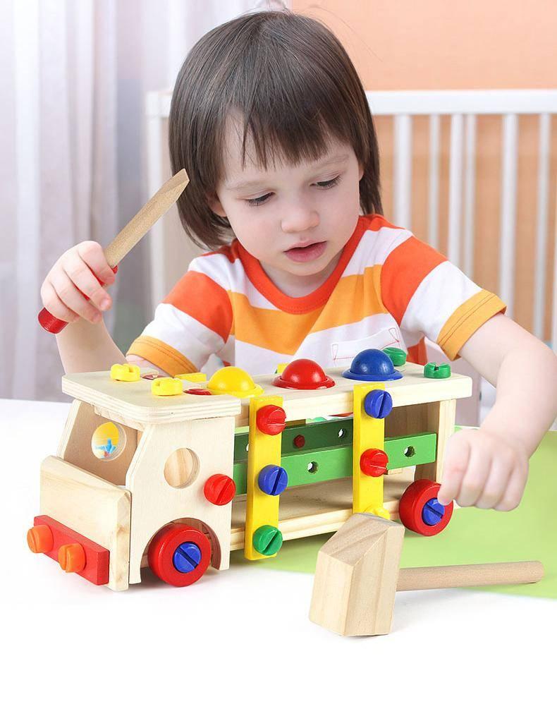 DIY Wooden Car Creative Building Blocks Toy