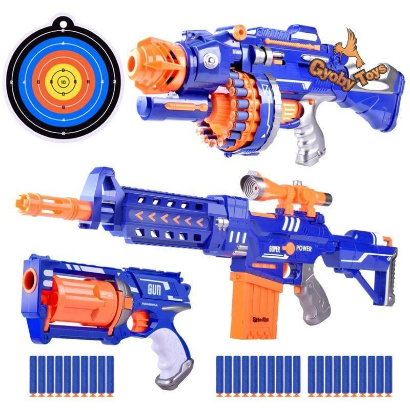 Realistic Gun Toy for 6.5cm Nerf Gun Darts GYOBY® TOYS