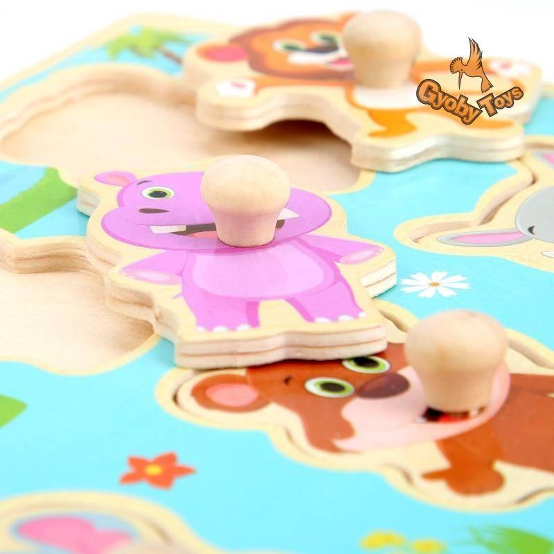 Wooden Jigsaw Puzzles for Kids GYOBY® TOYS