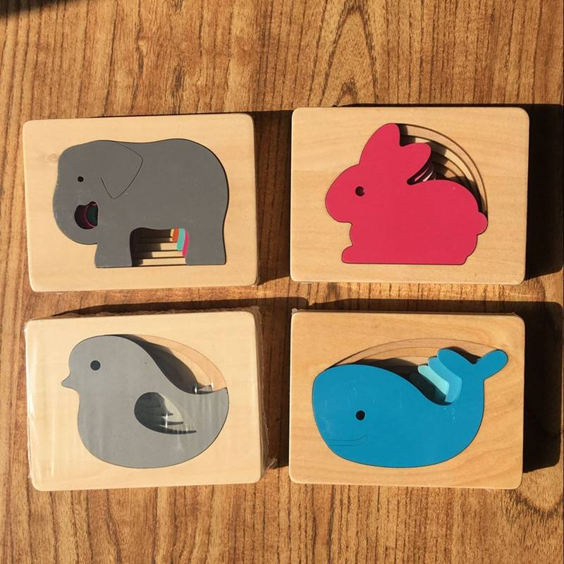 3D Animal Shaped Wooden Puzzle Toy GYOBY® TOYS