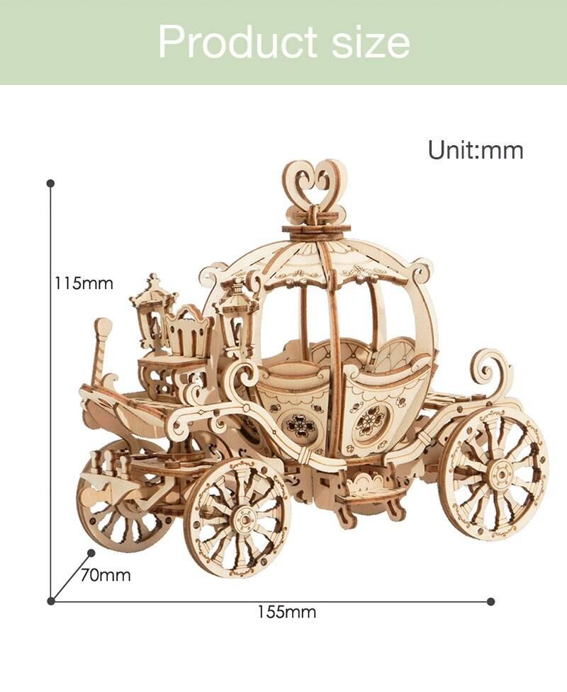 Pumpkin Cart 3D Wooden Puzzle Kit Toys