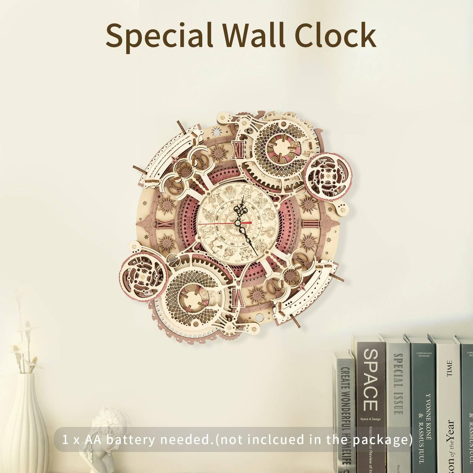 Zodiac Wall Clock 3d Wooden Puzzle Kit Toys