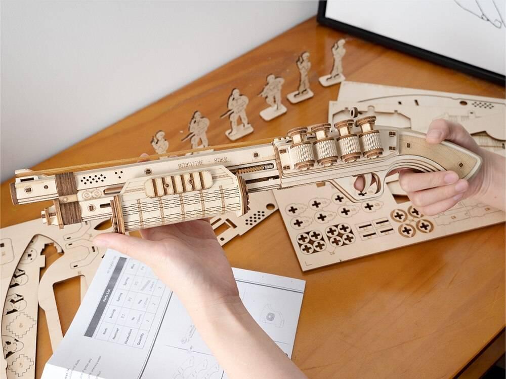Gun Blocks 3D Wooden Puzzle Kit Toys