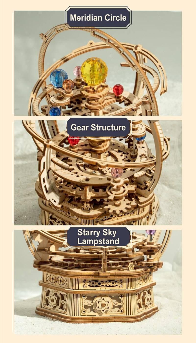 Rokr Music Box 3D Wooden Puzzle Kit Toys