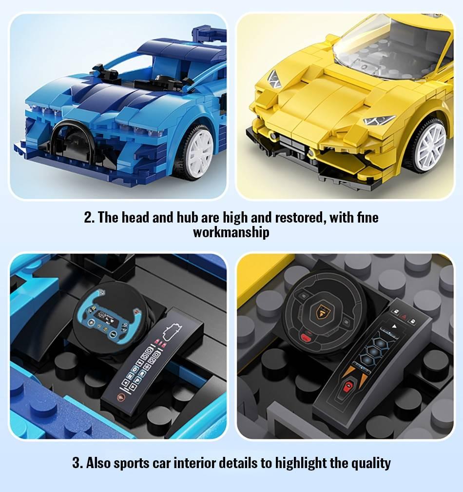 APP Programming RC Sports Car Model Building Blocks