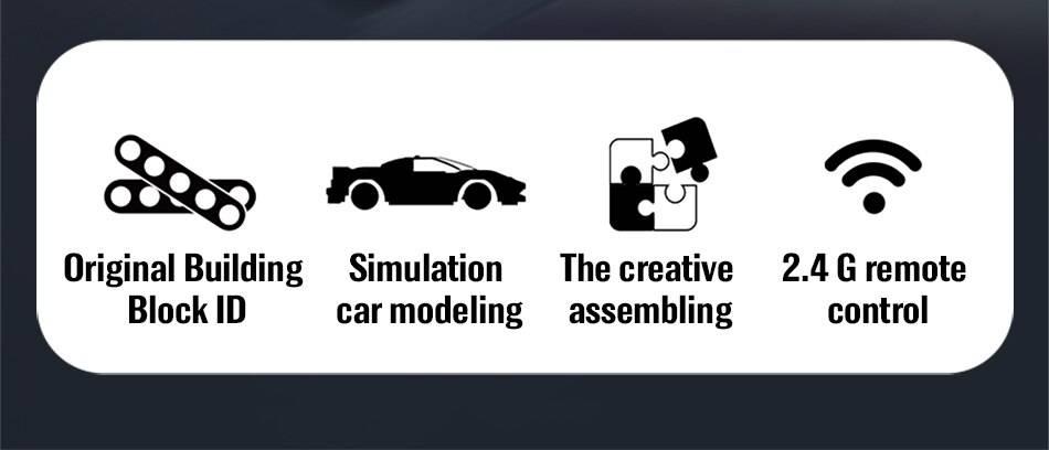 RC Racing Car Model Building Blocks Toys for Kids