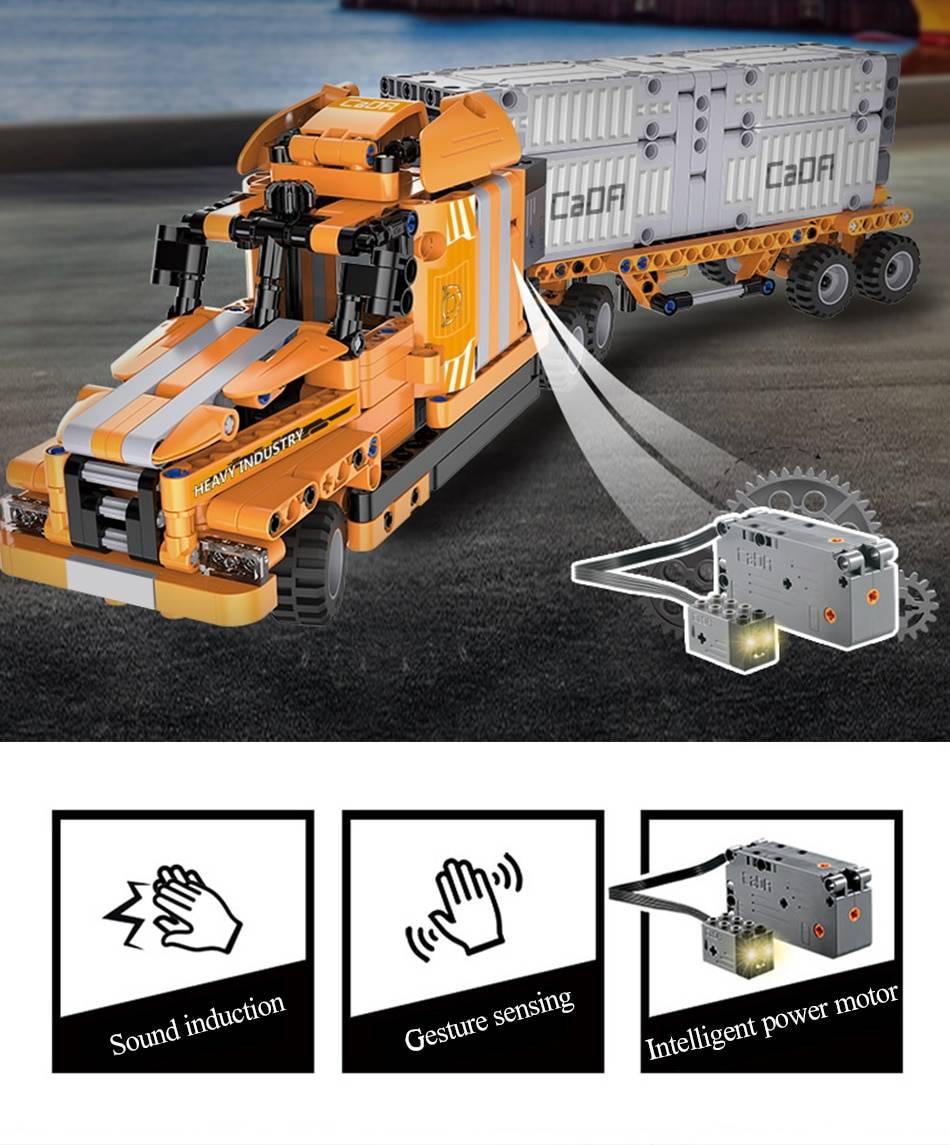 City Port Engineering Truck 10 IN 1 Building Blocks Toy