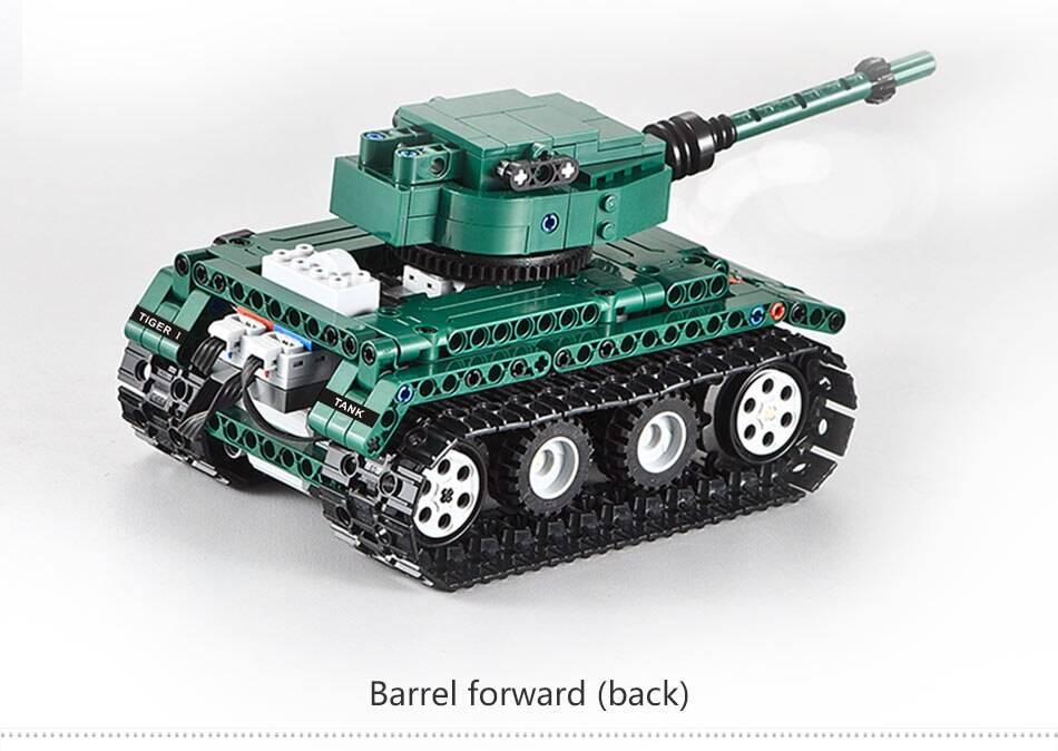 Military RC Tiger 1 Tanks DIY Model Building Blocks Toy