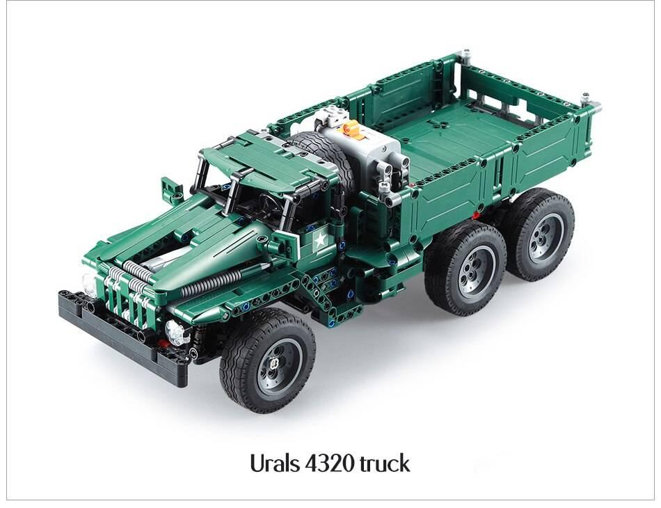Military RC Rocket Turret Truck Model Building Blocks Toy