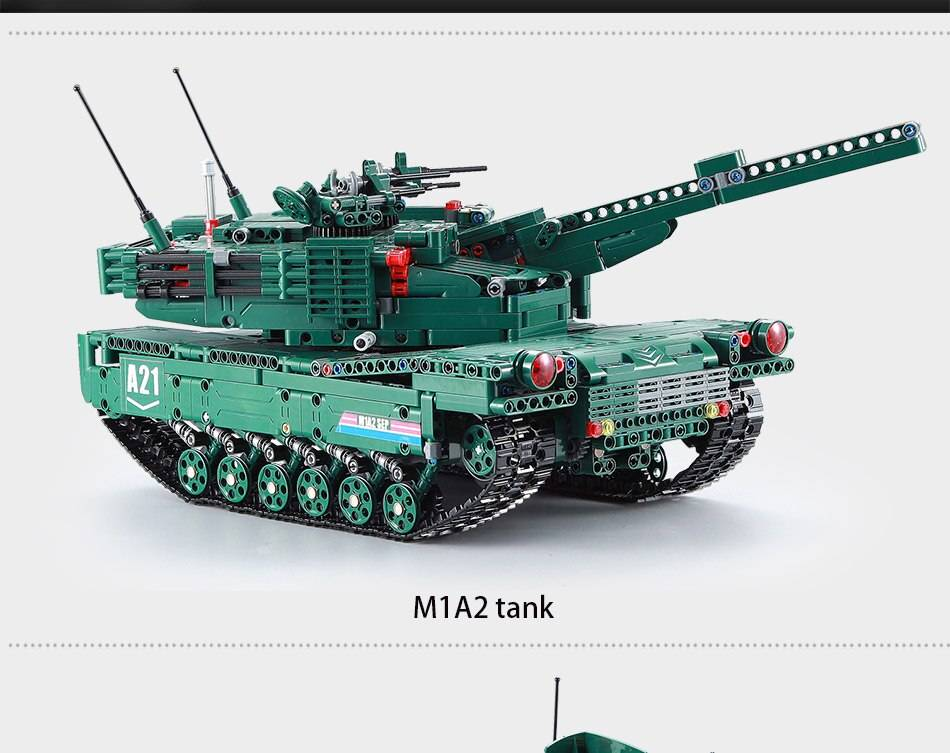 Military A21 RC Tank Model Building Blocks Toy