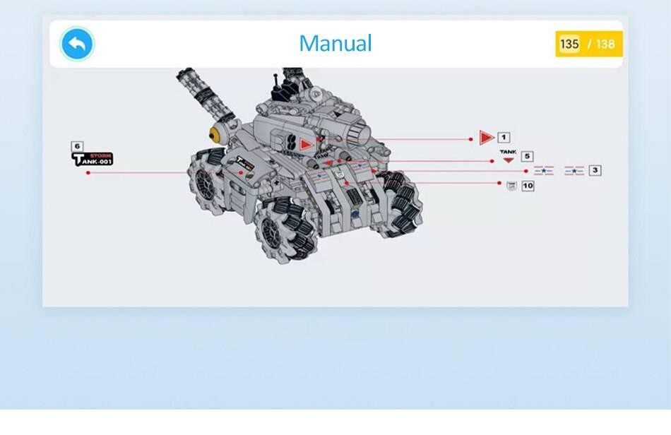 Military RC STORM Tank Building Blocks Toy