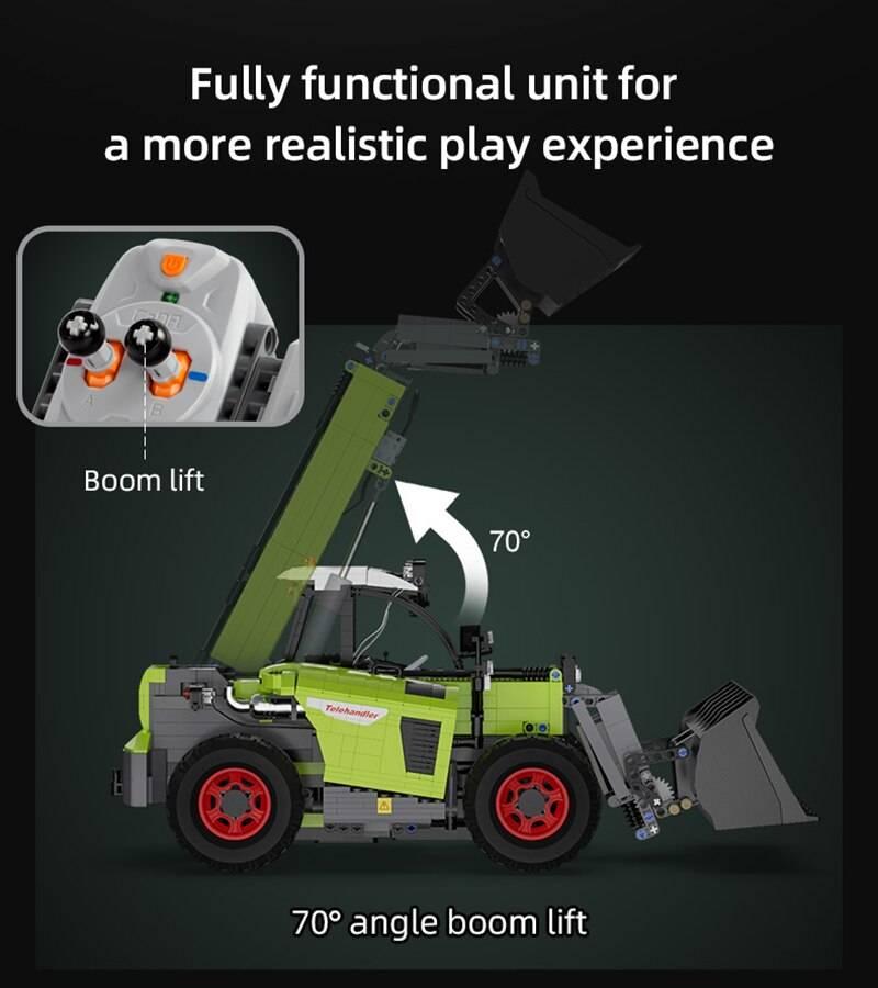RC Multifunctional loading truck DIY Model Building Blocks Toy