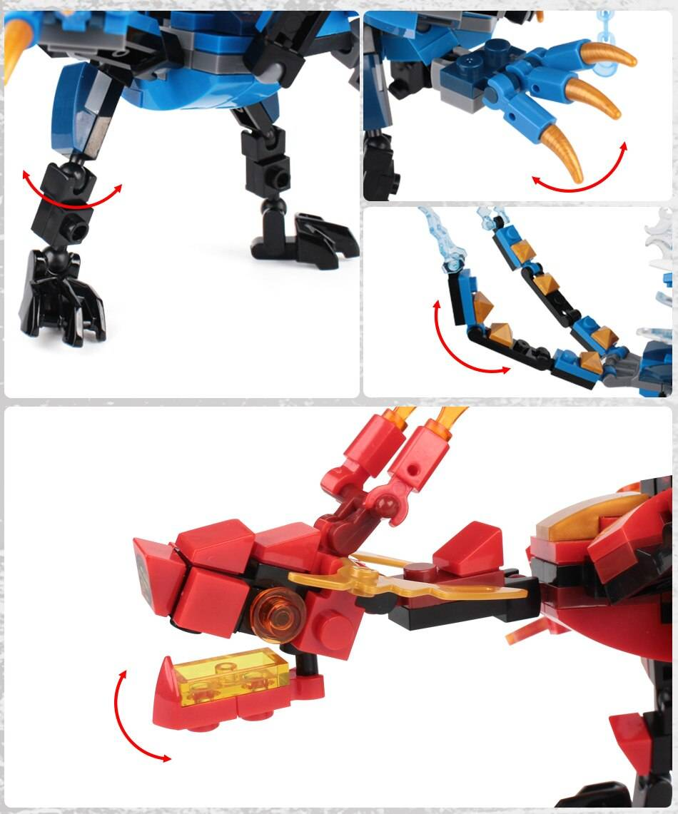 Fire Dragon Knight Model Building Blocks Toy