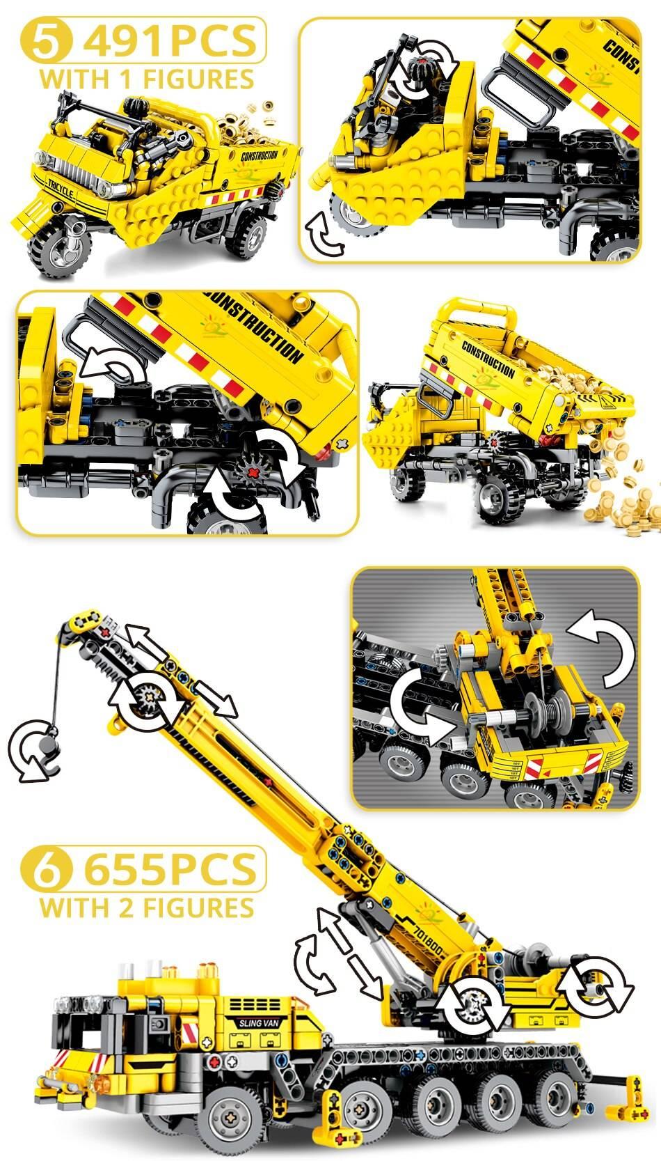 Construction Machine Model Building Blocks Toy