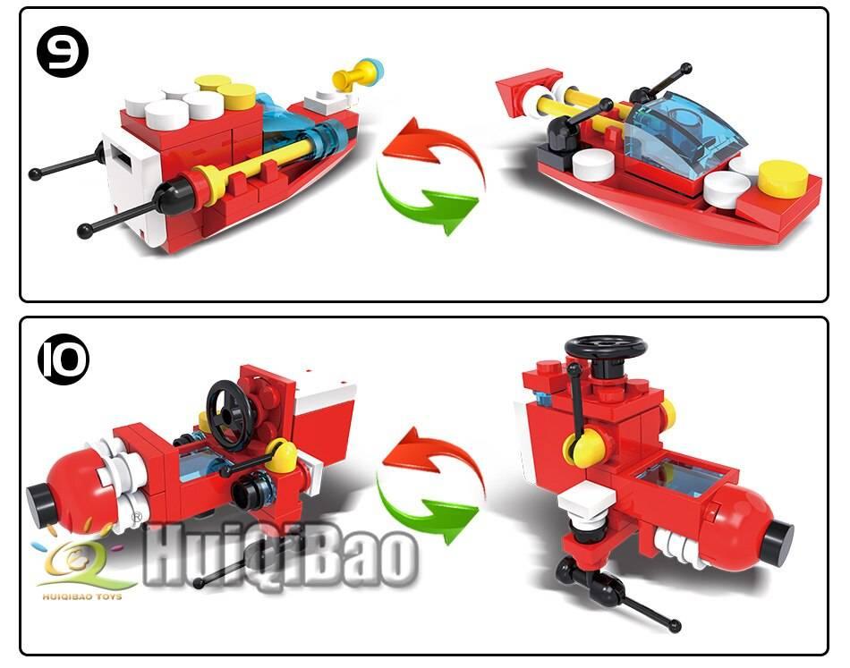 Fire Fighting Trucks Model 2 Building Blocks Toy