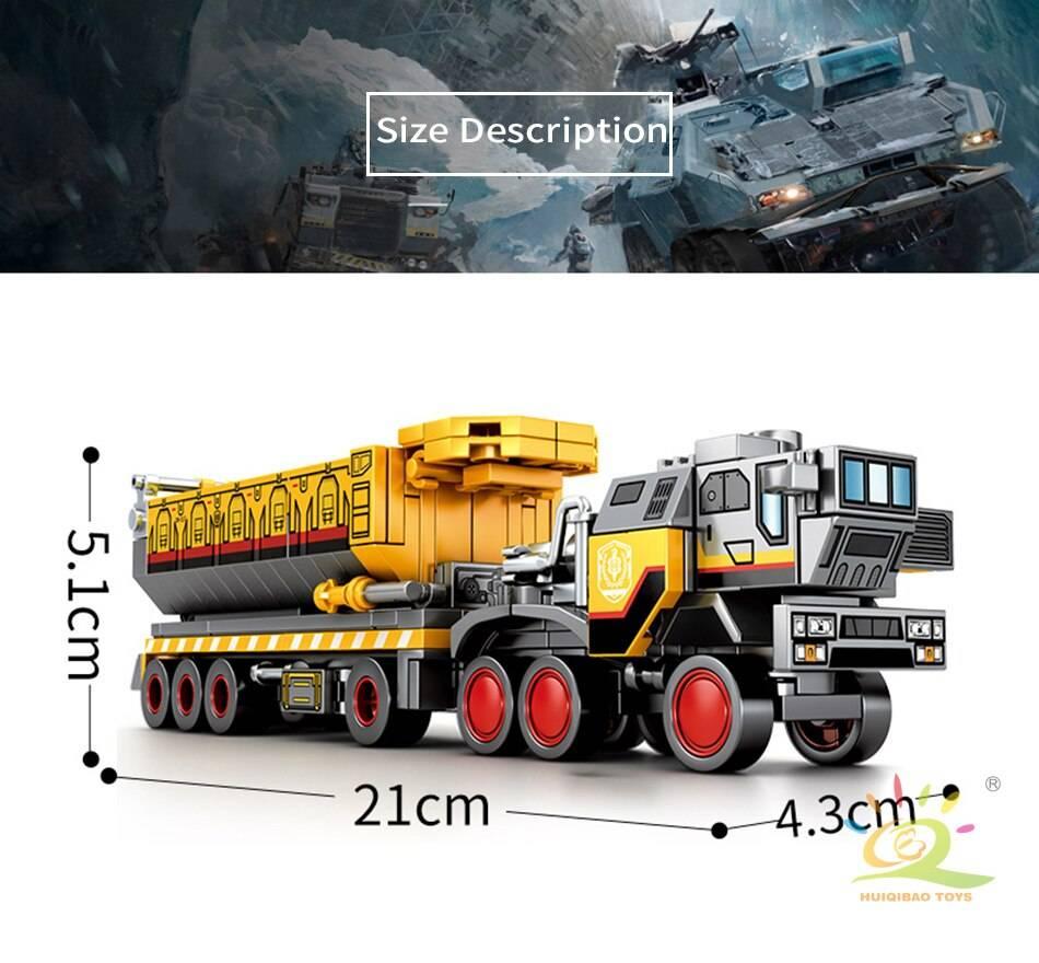 Movie Wandering Earth Trucks Building Blocks Toy