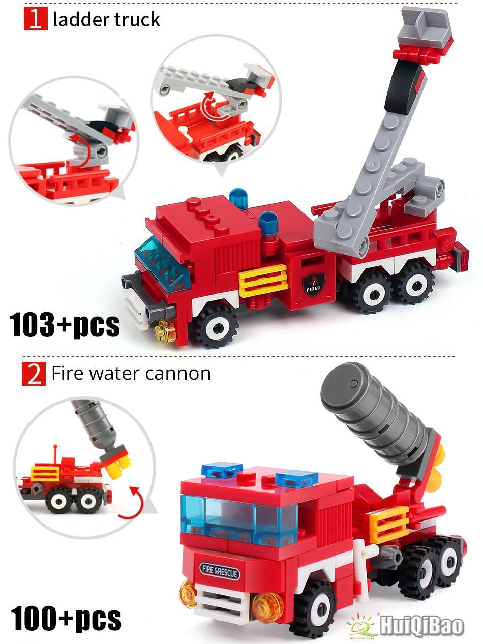 Fire Fighting 4 in 1 Building Blocks Toy