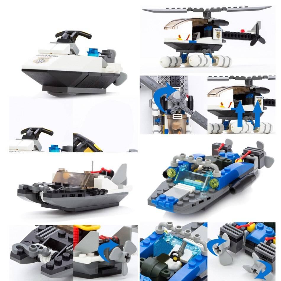 City Police Station Model Building Blocks Toy