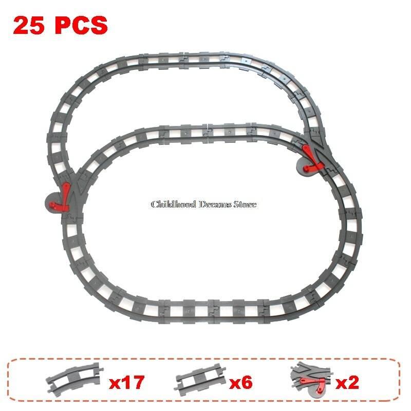 Railway Tracks Parts Building Blocks Toy