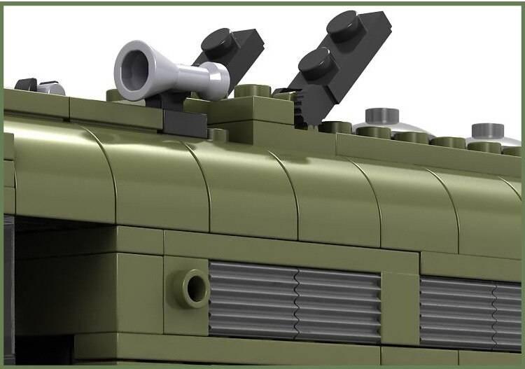 City Train Model Building Blocks Toy