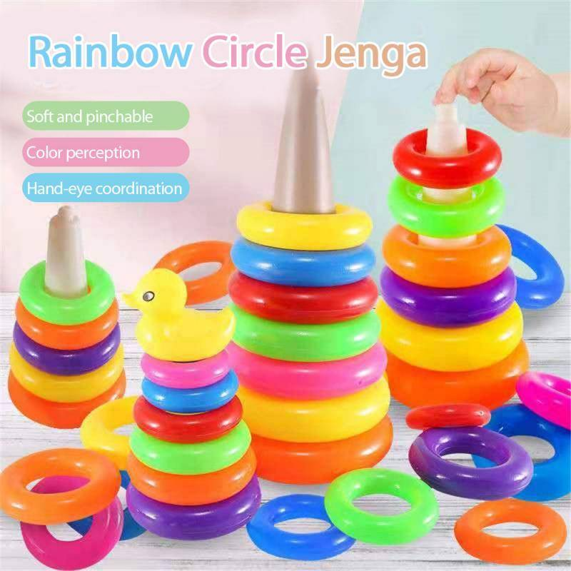 Rainbow Stacking Rings Baby Toy
