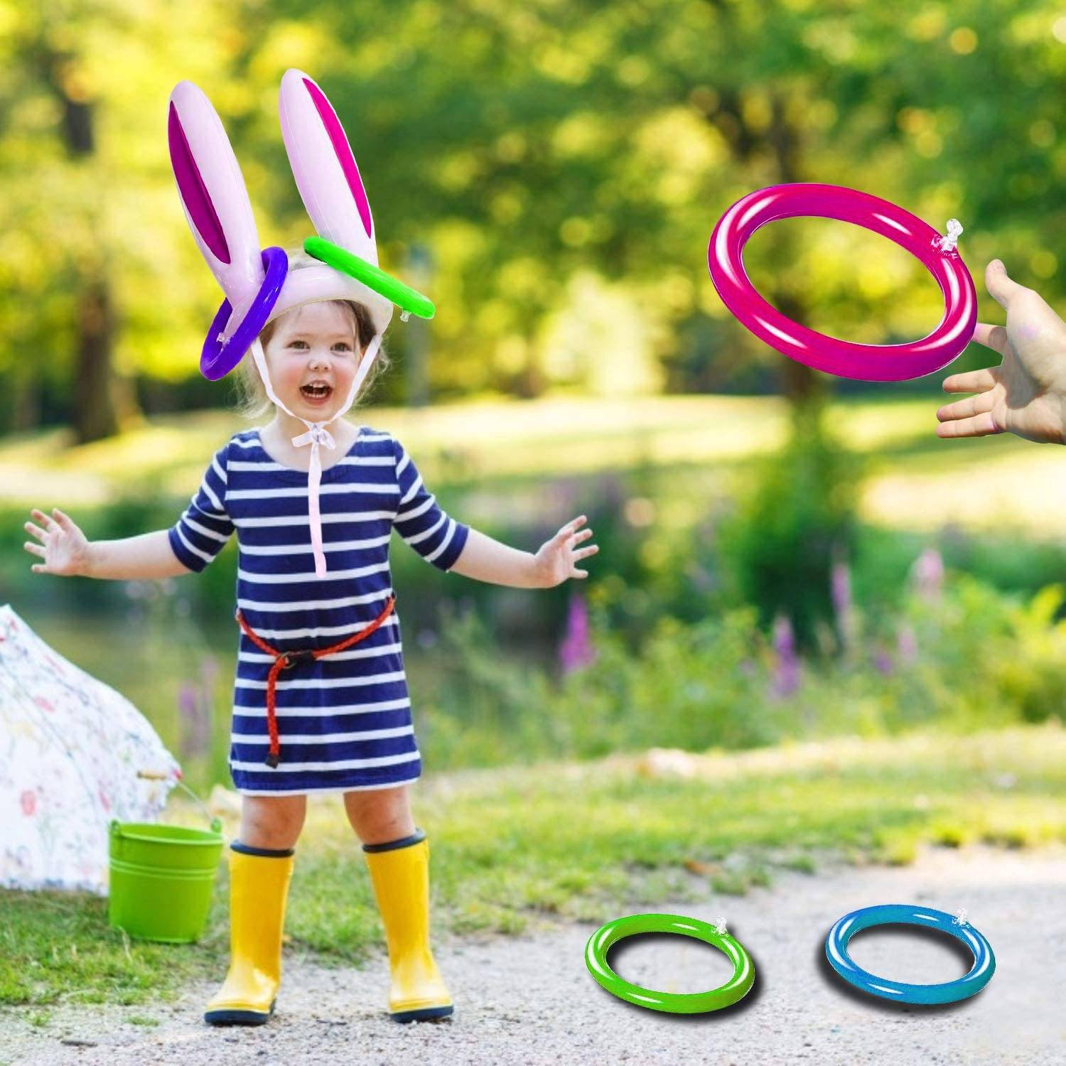Funny Inflatable Rabbit Ears Toy