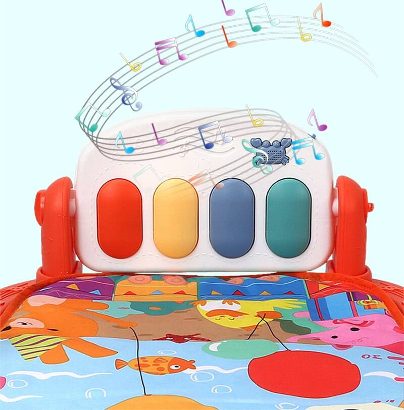 Baby Care Play Mat With Piano Keyboard
