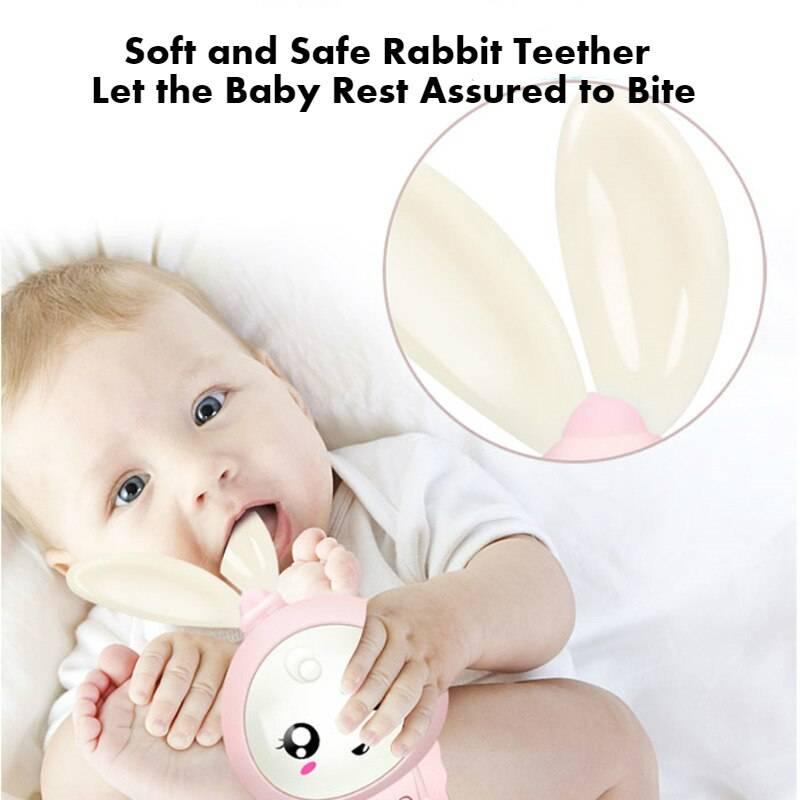 Music Rabbit Baby Rattle Toy